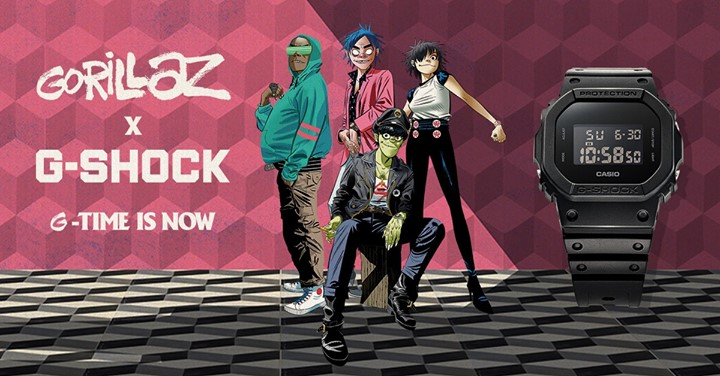 Gorillaz Collaboration mit Casio G-Shock