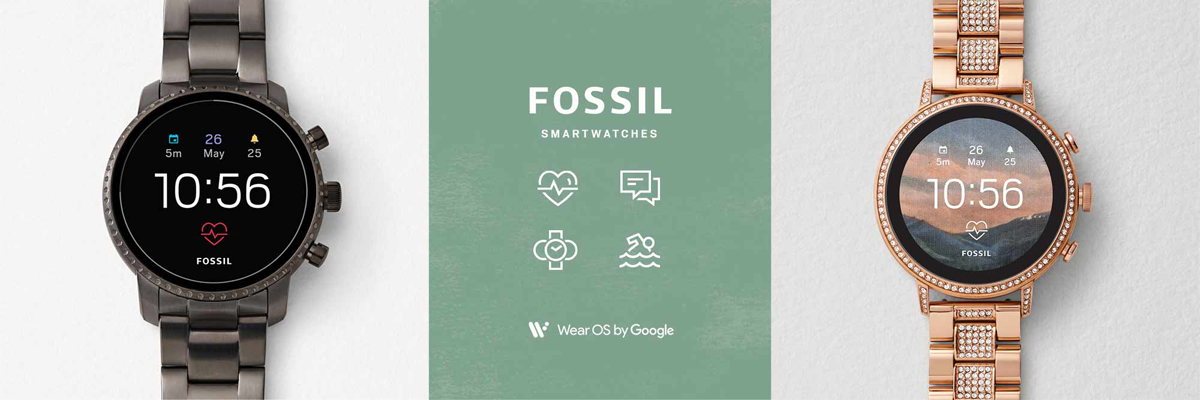 Smartwatches Fossil, ProTrek, und Diesel